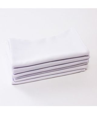 Polycotton - WHITE  - SET OF 6