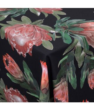 Botanica Black Protea - Fabric by the metre