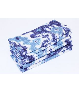 Ikat - SET OF 6 - BLUE