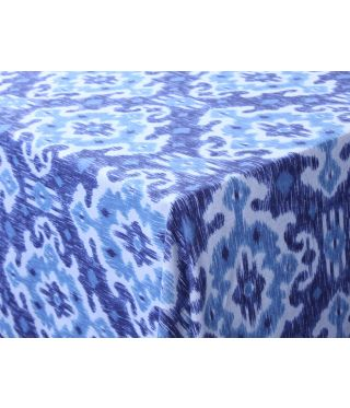 Ikat - Blue - Fabric By The Meter