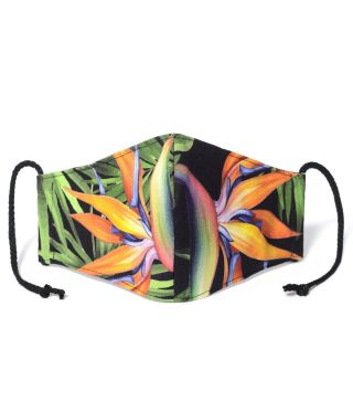 Reusable Triple Layer 100% Cotton Face Mask-With D15 Filter-Strelitzia