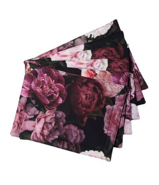 Botanica Peony - Black- SET OF 6