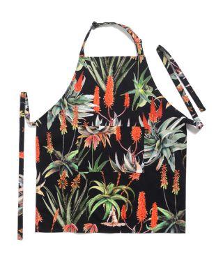 Botanica Aloe - Black - Full Bib Apron
