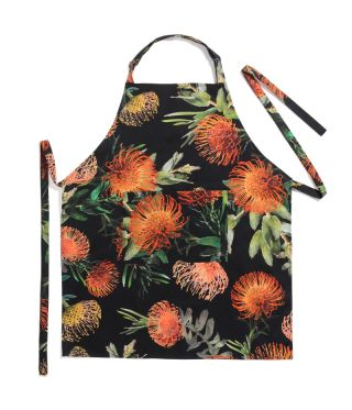 Botanica Pin Cushion - Black -  Full Bib Apron