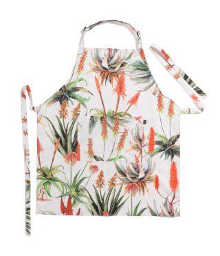 Botanica Aloe - White - Full Bib Apron