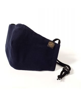Reusable Triple Layer 100% Cotton Face Mask-With D15 Filter-Navy