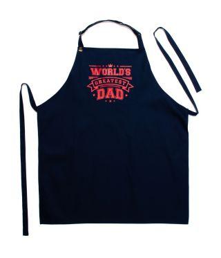 100% Cotton Slogan Apron - World's Greatest Dad