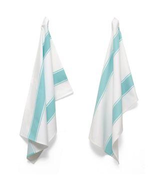 Tea Towels - Artisan Stripe - Teal