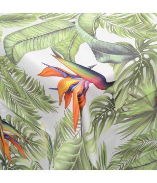 Botanica White Strelitzia- Fabric by the metre