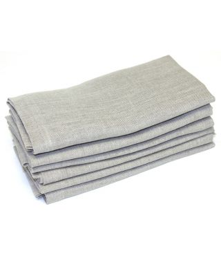 100% Linen - 2cm Hem - SET of 6