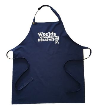 100% Cotton Slogan Apron- Worlds Greatest Braaier