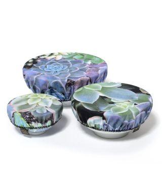 Bowl Coverings - Botanica Pin Cushion - Succulent Blue - SET OF 3