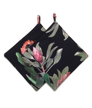 Botanica Protea - Black - SET OF 2