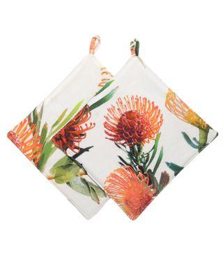 Botanica Pin Cushion - White - SET OF 2