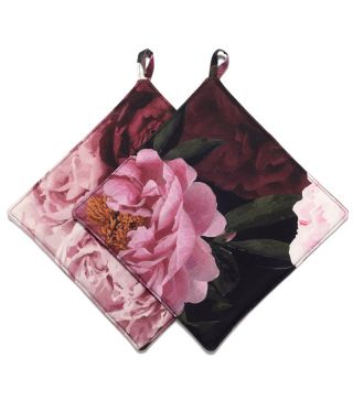 Botanica Peony - Black - SET OF 2