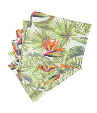 Botanica Strelitzia - White- SET OF 6
