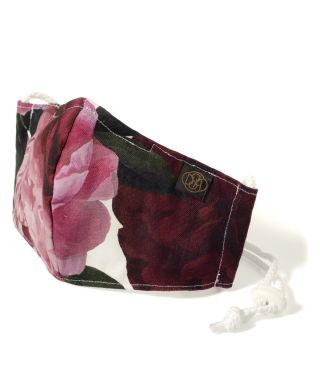 Reusable Triple Layer 100% Cotton Face Mask-With D15 Filter-Peony