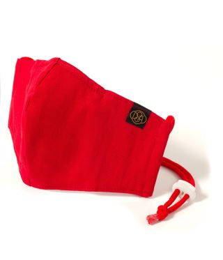 Reusable Triple layer 100% Cotton Face Mask-With D15 Filter-Red