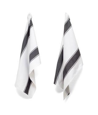 Tea Towels - Artisan Stripe - Charcoal