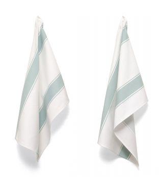 Tea Towels - Artisan Stripe - Duckegg