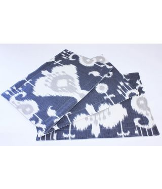 Ikat - SET OF 6 - GREY