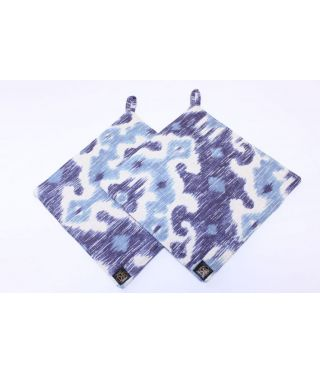 Ikat - Blue - SET OF 2