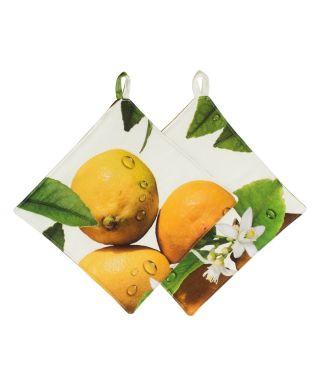 Botanica Lemon Pot Holders Pack of 2