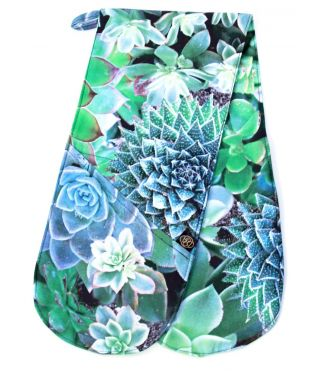 Botanica  Succulent Blue - Oven Gloves