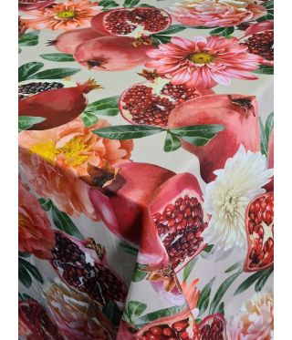 Botanica Pomegranate Linen - Fabric By The Meter