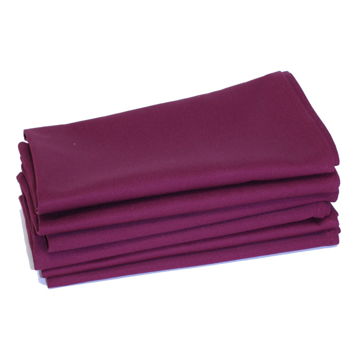 100% Cotton - Burgundy