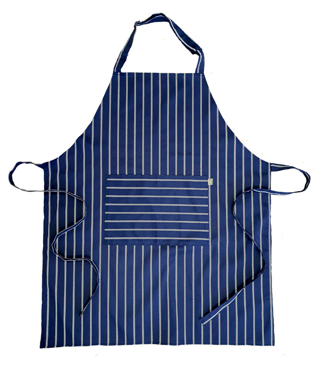 Butchers stripe -Blue