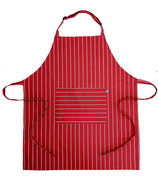 Butchers stripe -Red