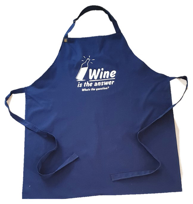 Wine is the Answer - Navy